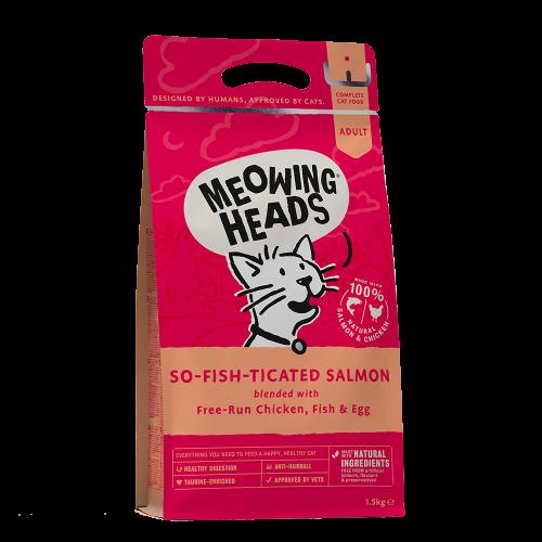 """Meowing Heads Корм для взрослых кошек, MEOWING HEADS So-fish-ticated Salmon """"Фиш-гурман"""", с лососем, курицей и рисом взр_кур_лосось_1.5.png"""