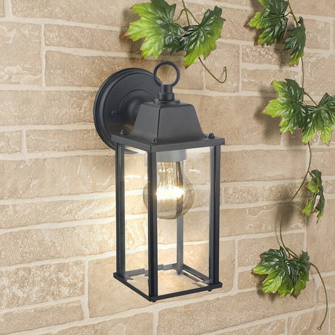 Brick черный уличный настенный светильник GL 1008D