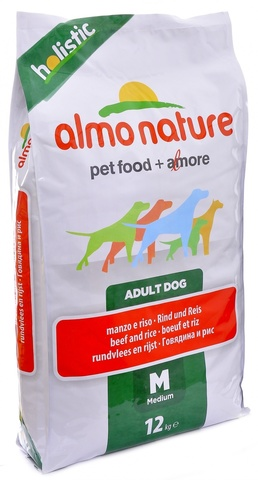 Сухой корм Almo Nature Holistic - Medium&Beef and Rice