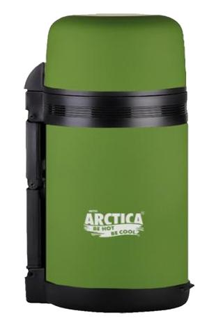 Термос универсальный (для еды и напитков) Арктика (1 литр) с широким горлом, болотный матовый