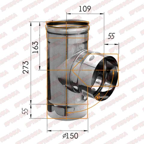 Тройник-К 90° d150мм (439/0,8 мм) Ferrum