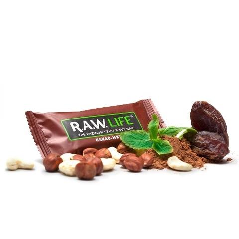 Батончик натуральный R.A.W. LIFE Chocolate Какао&Мята