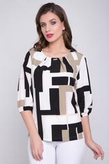 <p>Идеальный вариант на любое торжество. Легкая, воздушная блузка станет незаменимой в Вашем гардеробе. По переду горловины великолепные защипы с брошкой. Рукав 3/4 на резинке.&nbsp;</p>