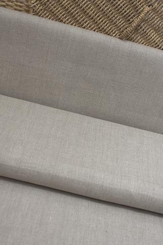 Ткань льняная, цвет натурального льна