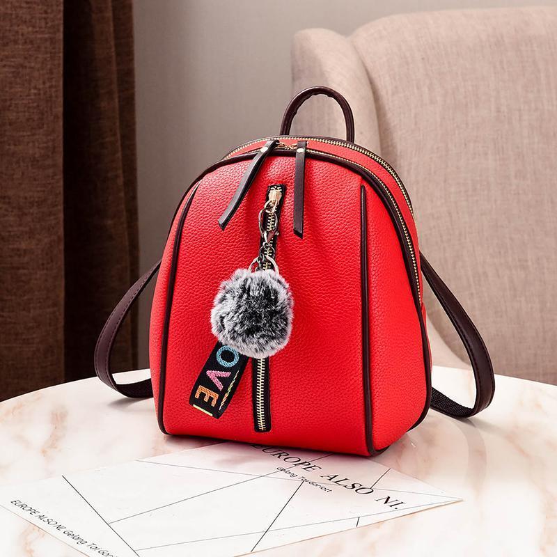 Женский маленький рюкзачок 18х24х12 см красный 4378-2