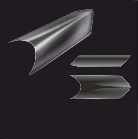 Типсы формы EDGE, прозрачные, 500 шт.