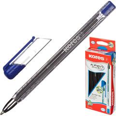 Ручка шариковая одноразовая Kores K11 синяя (толщина линии 0.7 мм)