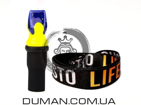Персональный мундштук Gusto Bowls (Густо Болс) |Blue-Yellow Gusto Life