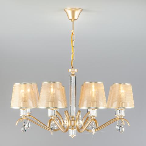 Подвесная люстра с абажурами 60103/8 перламутровое золото