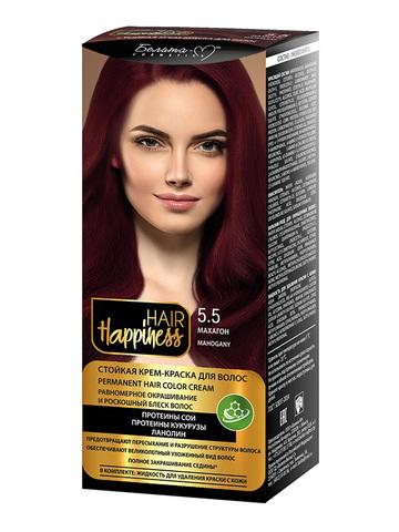 Белита-М Hair Happiness Крем-краска для волос аммиачная №5.5 махагон