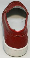Модные мокасины женские кожа Evromoda 042.5710 WRed.