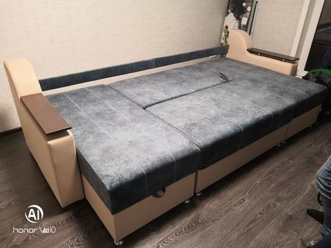 П-образный угловой диван