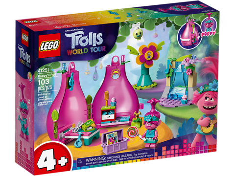 LEGO Trolls: Домик-бутон Розочки 41251 — Poppy's Pod — Лего Троллз Тролли