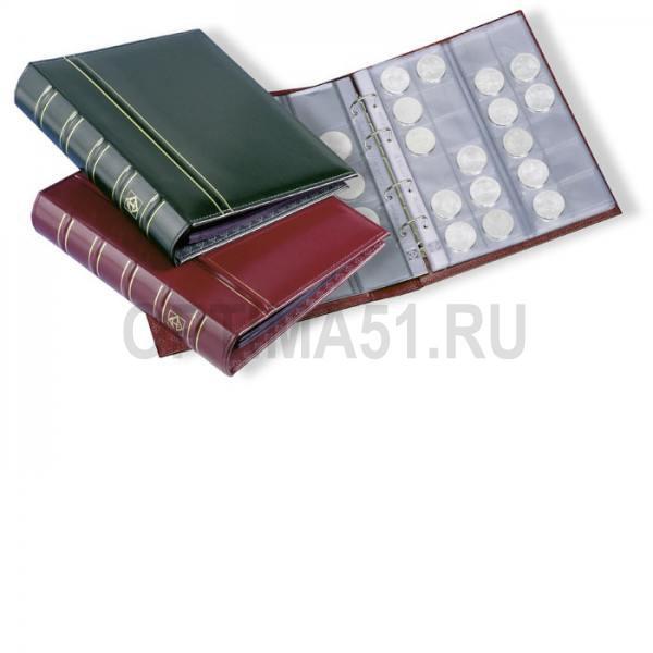 Альбом OPTIMA classic, с шубером, включая 10 листов для монет, черный (по 2 листа M15, M35, M54 и 4 листа M24)