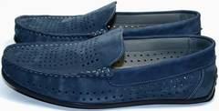 Красивые модные туфли мужские IKOC 1352-2 Blue.