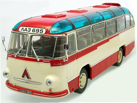 LAZ-695B Bus 1958 red-white Ultra Models 1:43