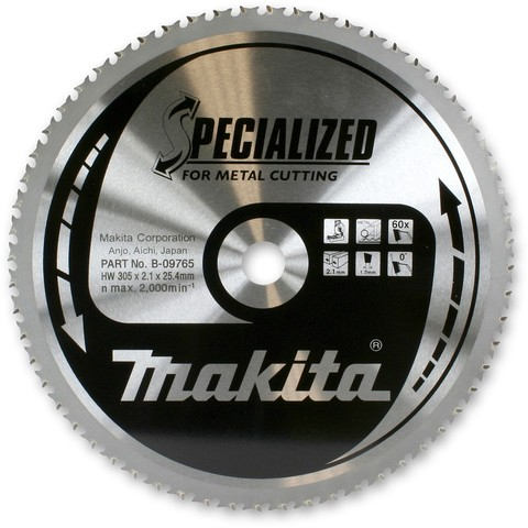 Диск Makita по стали 185х30х1,8 мм/56T, 0°, SMTCG