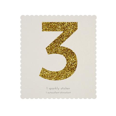 Стикер 3, мерцающее золото