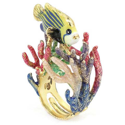 Кольцо Рыба Ангел