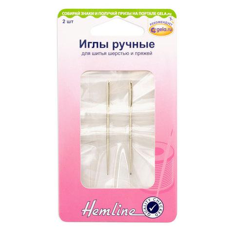 Hemline Иглы для шитья шерстью и пряжей металл