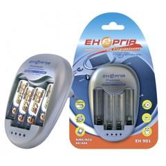 Зарядное устройство Энергия ЕН-901 Премиум, 1-4 АА, ААA, dVконтроль, dTконтроль, дозаряд, 500mAh