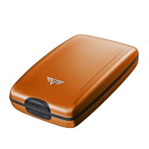 Кошелек c защитой Tru Virtu Oyster 2, оранжевый, 110x69x28 мм