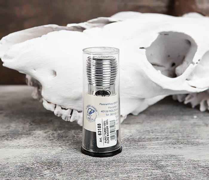 RAZ63188 Стильный помазок Omega на пластиковой подставке фото 06