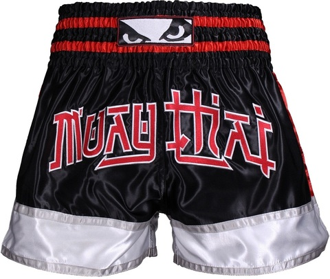 Шорты Bad Boy Kao Loy Muay Thai Shorts Black/Grey