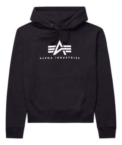 Толстовка Alpha Industries Basic Logo Hoodie (Черная)