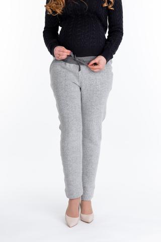 Утепленные брюки для беременных 10078 серый