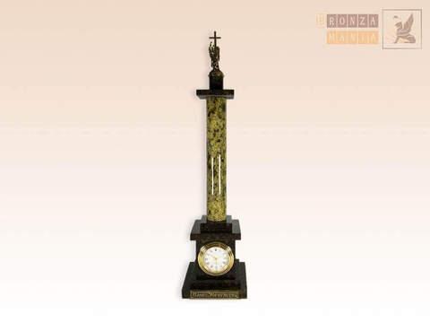 часы Александрийский столп - змеевик