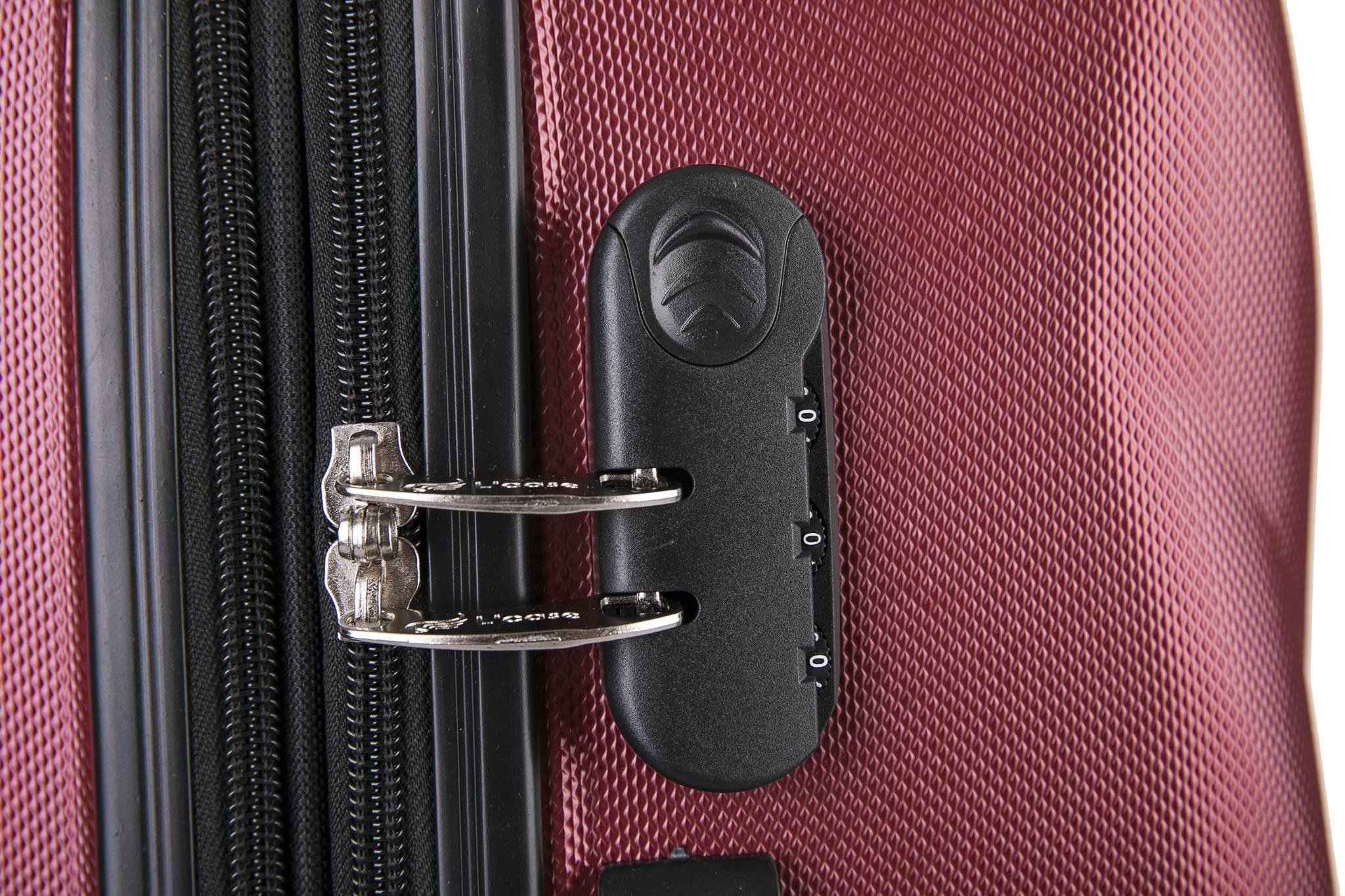 Чемодан с расширением L'case Phuket-28 Бордовый (XL)