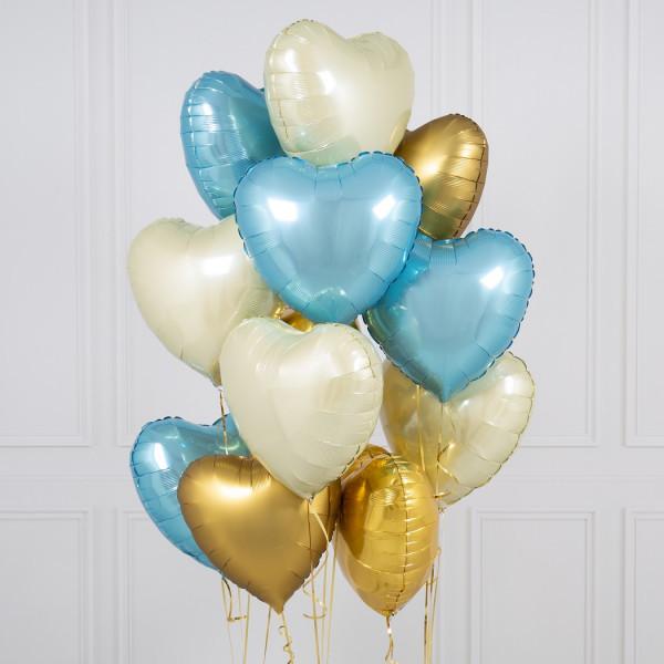 """Композиции Букет шары сердца """"Нежный вечер"""" baby_blue_hearts_1.jpg"""