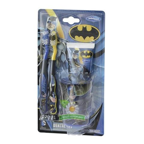 Набор дентальный Batman: 2 щетки зубная паста 75 мл стаканчик от 3-х лет