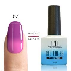 TNL, Термо гель-лак № 07 - маджента/неоново-розовый, 10 мл