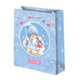 Подарочный пакет Зайка Ми Новый год синий (средний)