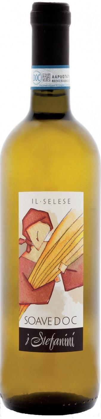 Вино Соаве Иль Селезе защ. наим. белое сух.0,75л Италия