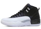 Кроссовки Мужские Air Jordan 12 Retro Jumpmen Black White Grey