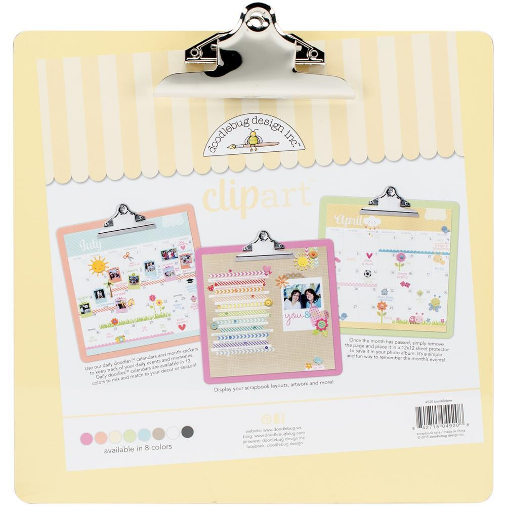 Планшет для бумаги с зажимом Doodlebug Clipart Monochromatic Clipboard 34,3х34,3 см - Bumblebee