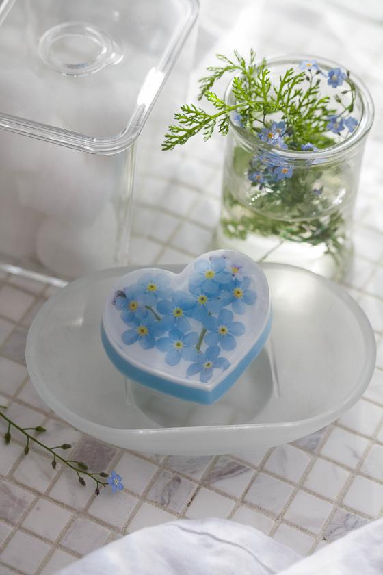 Мыло своими руками. Форма Сердце ровное