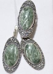 Хлоя (кольцо + серьги из серебра)
