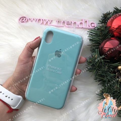 Чехол iPhone XR Silicone Case /sea blue/ бирюза 1:1