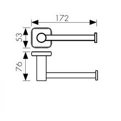 Держатель для туалетной бумаги KAISER Vera KH-1720 схема