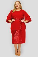 Блузка из красного крепа 1822704