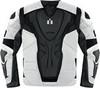Мотокуртка - ICON OVERLORD RESISTANCE (текстиль, белая)