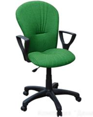 Кресло ВАРНА газлифт ткань зелено-черная