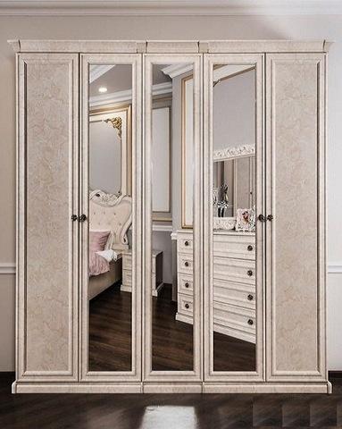 Шкаф  АФИНА 5-ти ств. корень крем с зеркалами
