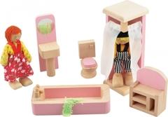 Игрушки из дерева Набор мебели для кукол