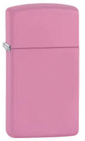 Зажигалка Zippo Slim, латунь с покрытием Pink Matte, розовая, матовая, 30х10x55 мм123