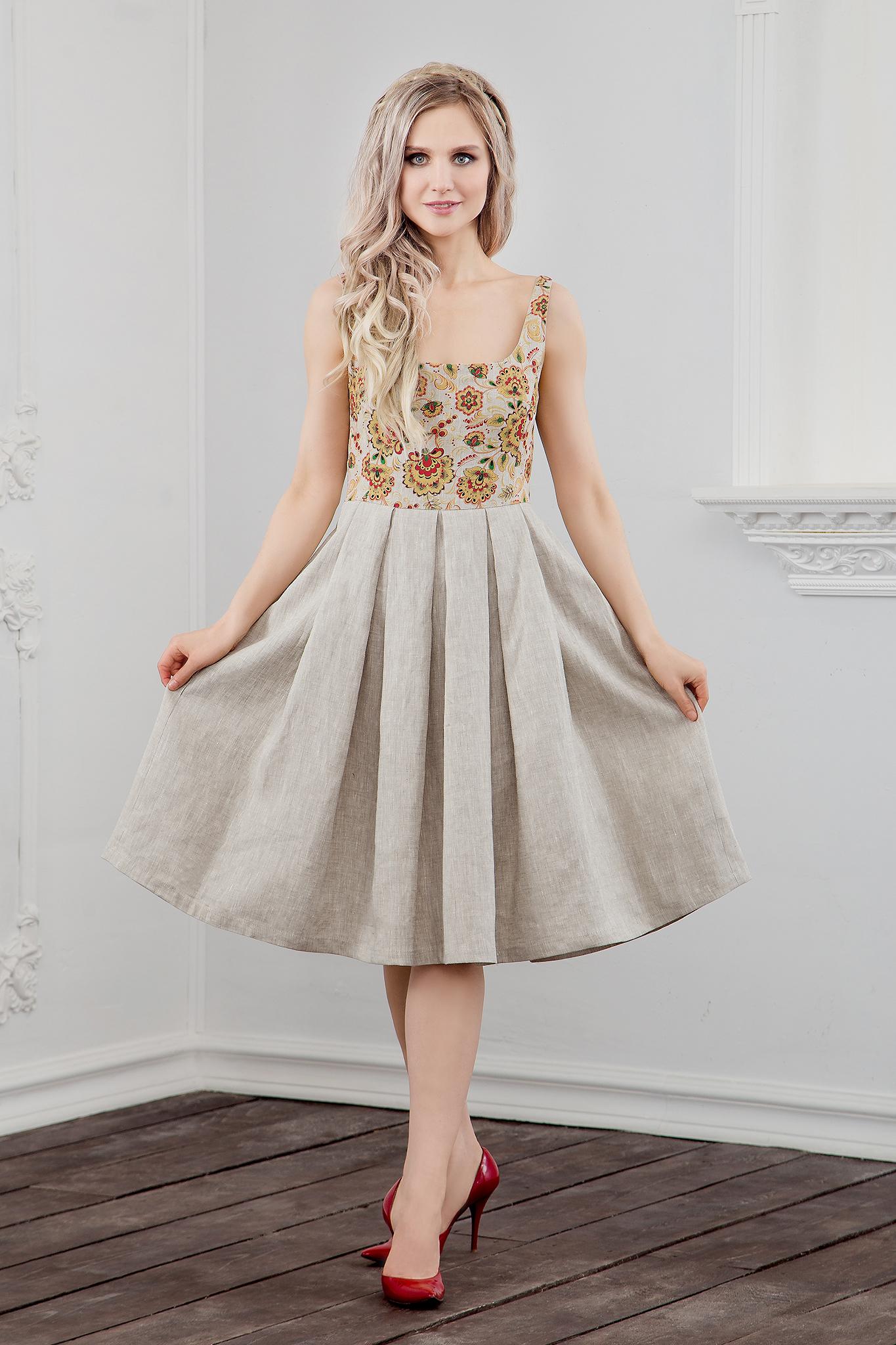 Платье Иванка c хохломой купить в магазине Иванка
